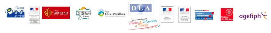 logos partenaires BGE Ariège