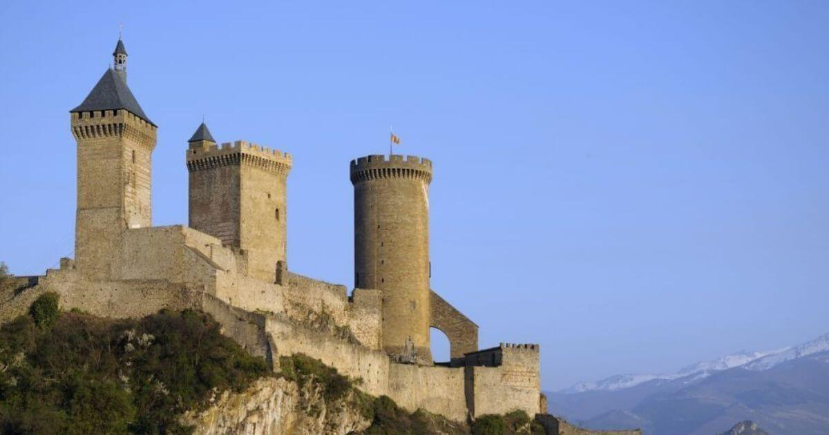 Photo du site touristique et monument historique du Château de Foix Illustration département de l'Ariège 09 BGE Sud-Ouest